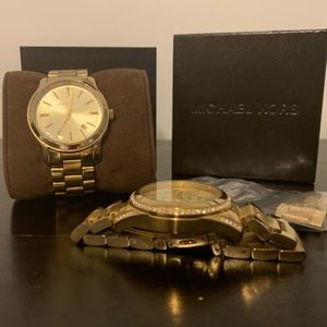 Michael Kors Gold Watches (set of 2)